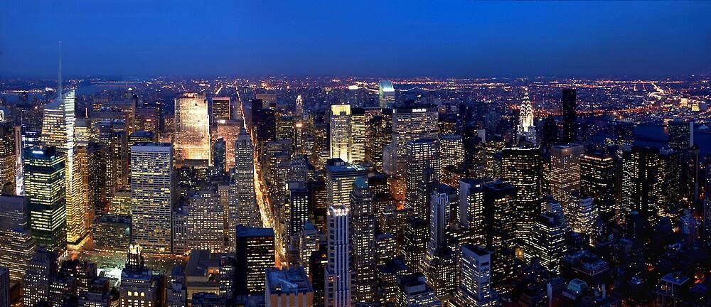 New York Skyline at Night by oliver9523