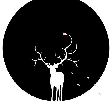 Stag in the Moonlight by PinataJohn