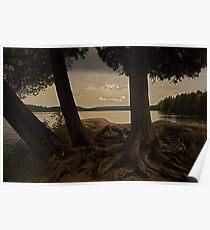 Algonquin park sunset, Ontario Canada Poster