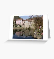 Reflections in the River Aveyron Greeting Card