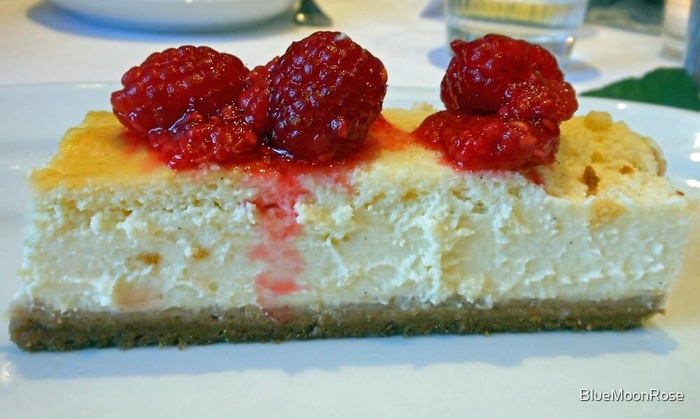 Slice of White Chocolate Cheesecake with Raspberries by BlueMoonRose