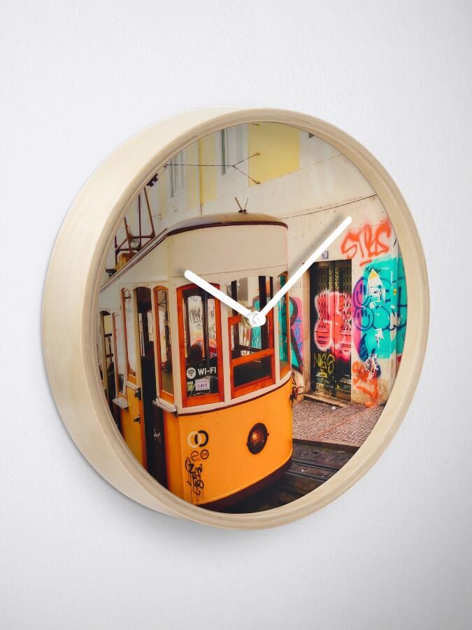 Horloge ''BOM DIA LISBOA | Tramway N°1': autre vue