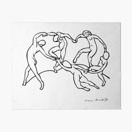 Henri Matisse The Dance and Music Line Artwork Hermitage Sketch For Prints Tshirts Posters Bags Men Women Youth Art Board Print