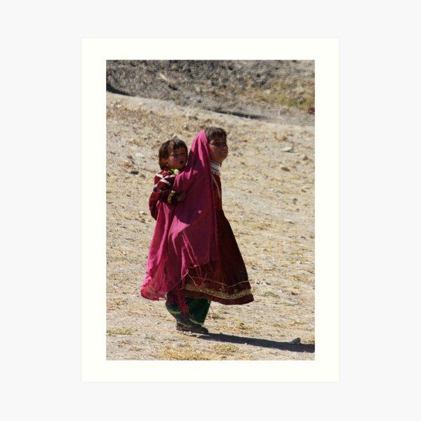 Sisters (Afghanistan) Art Print