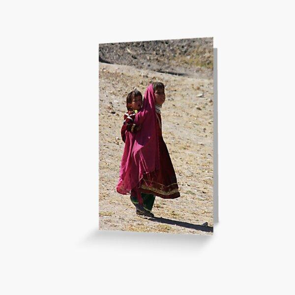 Sisters (Afghanistan) Greeting Card