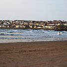Town and Surfer - Portstewart Strand by alexandriaiona