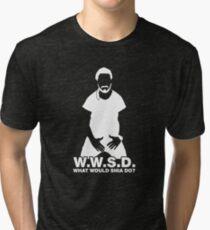 What Would Shia LaBeouf Do? WHITE Tri-blend T-Shirt