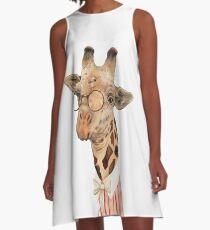 Lady Giraffe A-Linien Kleid