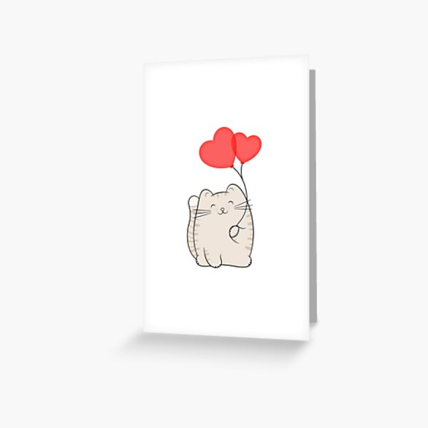 Eli, the love cat Greeting Card
