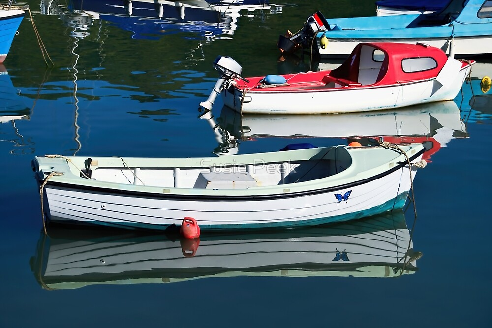 Small Boats At Lyme Regis Harbour 2 by Susie Peek