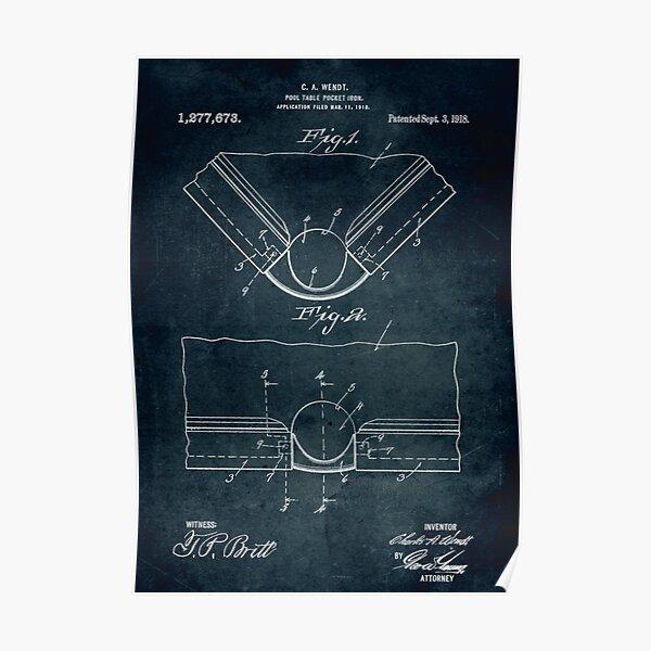 1918 - Pool table pocket iron  Poster