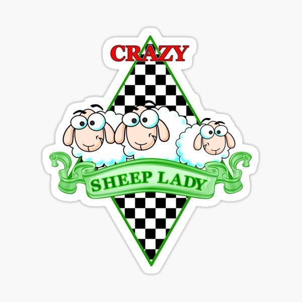 Crazy Sheep Lady Sticker
