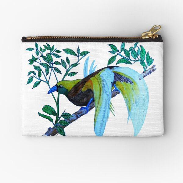Lesser Birds of Paradise Zipper Pouch
