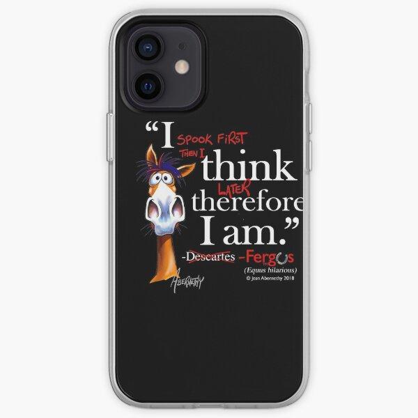Fergus the Horse: Descartes (white) iPhone Soft Case