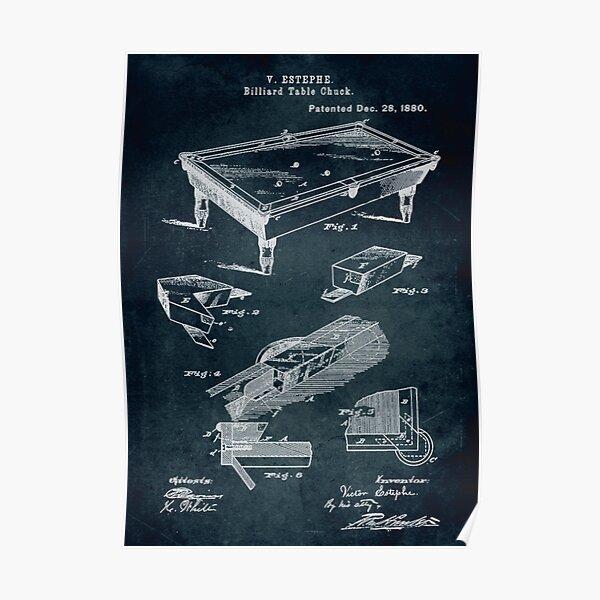 1880 - Billiard table chuck Poster