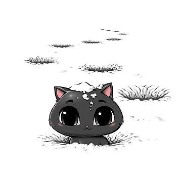 Verlorene Katze im Schnee von tobiasfonseca