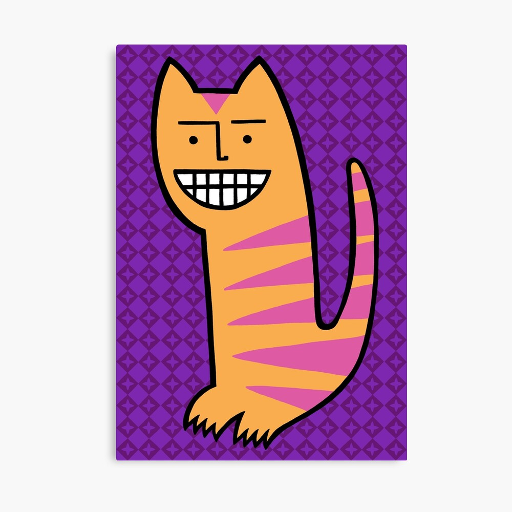 Be happy. Be the cat. Canvas Print