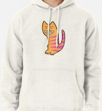 Be happy. Be the cat. Pullover Hoodie