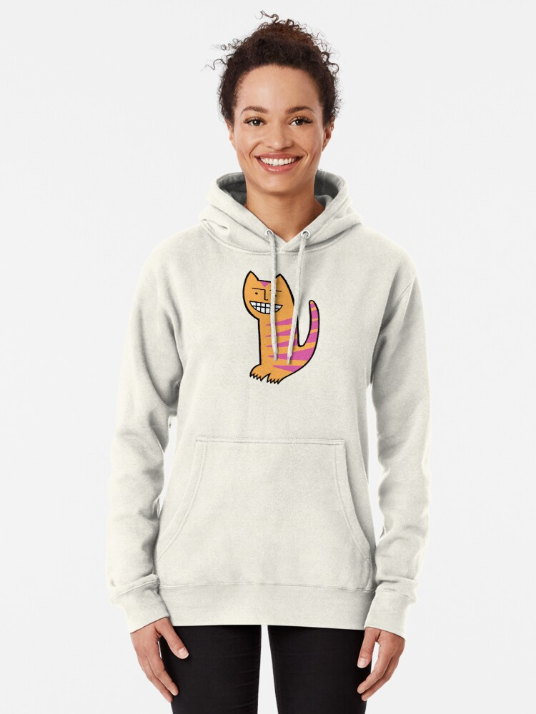 Alternate view of Be happy. Be the cat. Pullover Hoodie