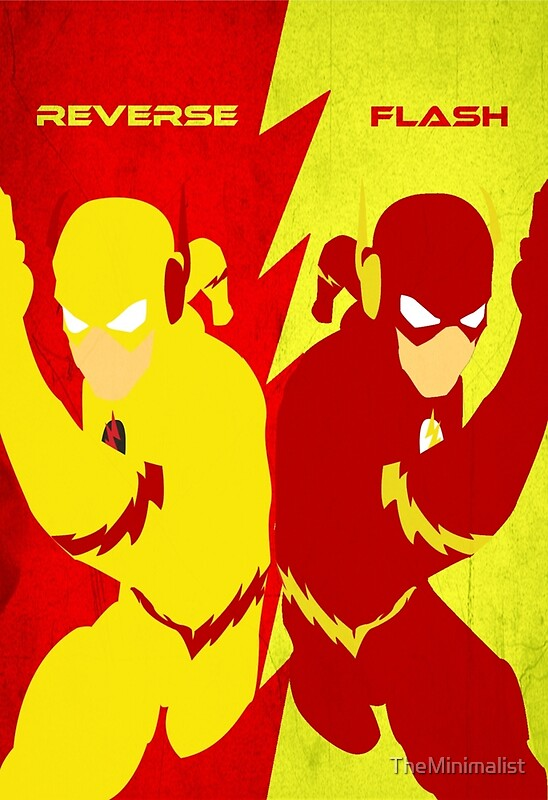 Reverse Flash Posters Redbubble