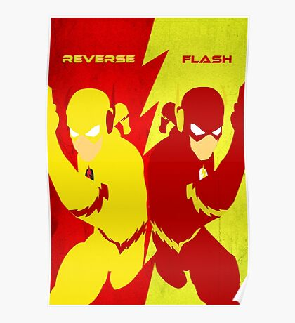 Reverse Flash VS Flash Minimalist Poster
