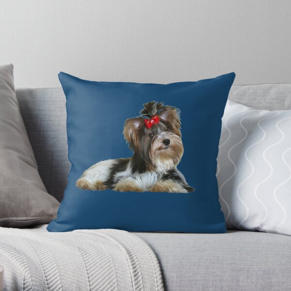 Yorkshire Terrier (Biewer - lying down) Throw Pillow