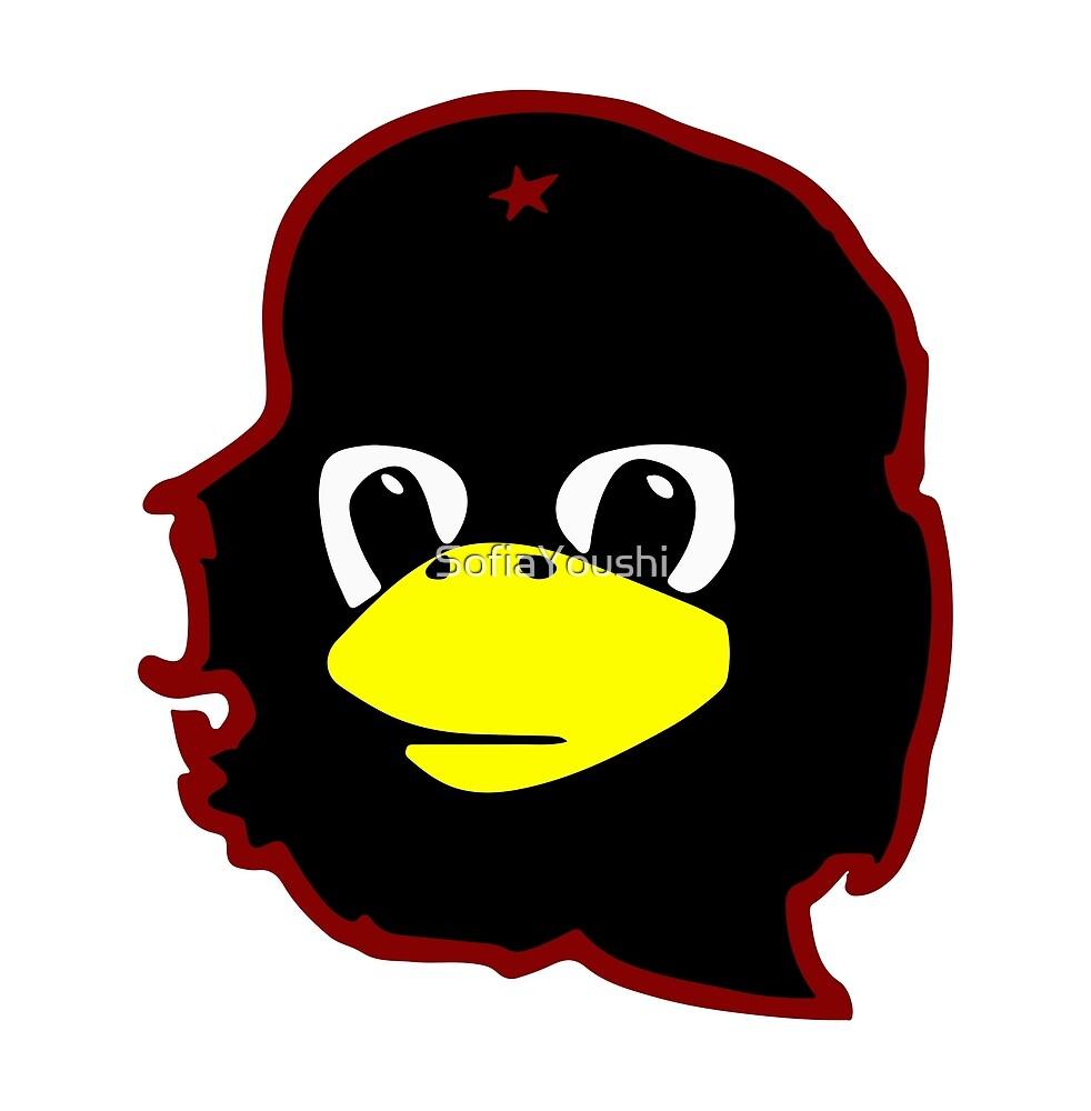 Linux tux Penguin Che guevara guerilla by SofiaYoushi