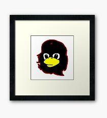 Linux tux Penguin Che guevara guerilla Framed Print