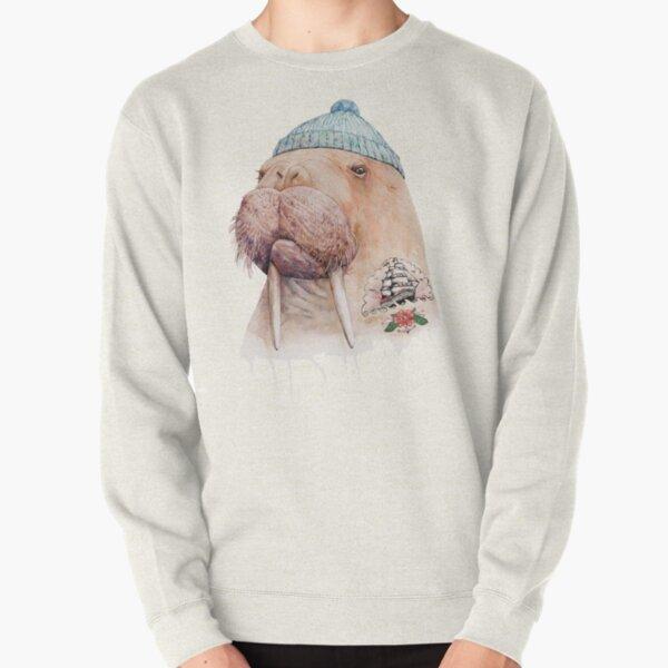 Tattooed Walrus Pullover Sweatshirt