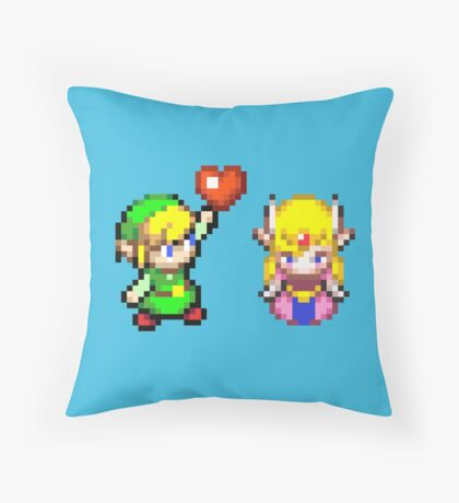 Zelda & Link Throw Pillow