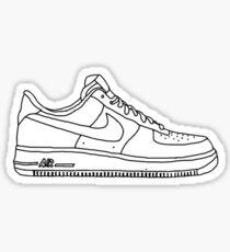 Nike Air Force 1 Schuhe Sticker
