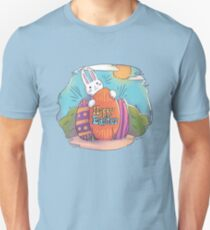 Happy Easter | Bunny Hiding His Eggs Unisex T-Shirt