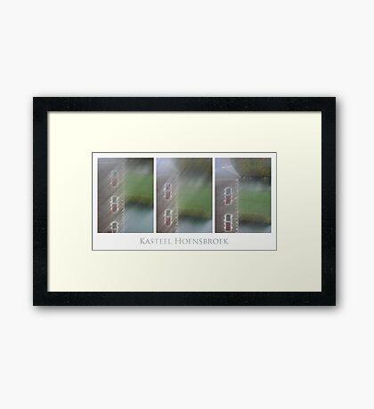 Kasteel Hoensbroek (triptych) Framed Print
