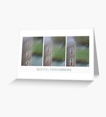 Kasteel Hoensbroek (triptych) Greeting Card