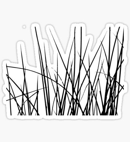 Water grass (black) (T-Shirt) Sticker