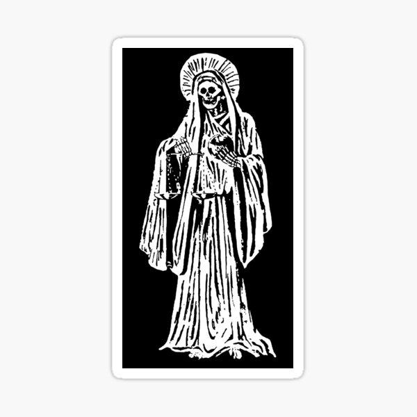 Santa Muerte. Español para Nuestra Señora de la Santa Muerte. Pegatina
