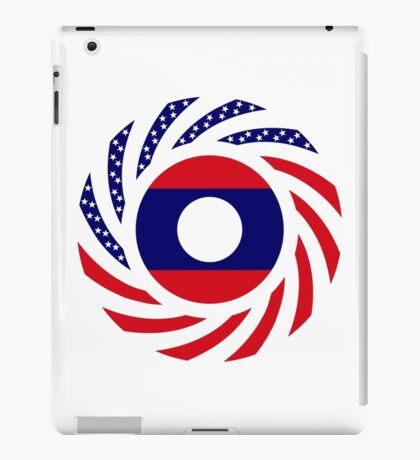 Lao American Multinational Patriot Flag Series iPad Case/Skin