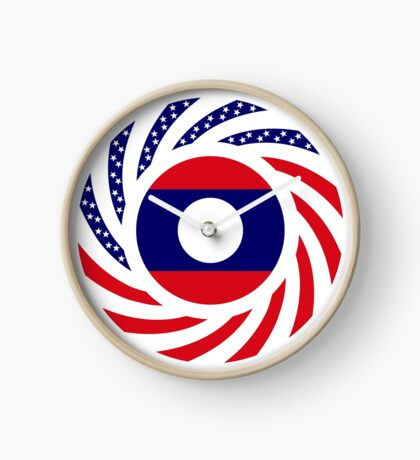 Lao American Multinational Patriot Flag Series Clock