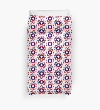 Lao American Multinational Patriot Flag Series Duvet Cover