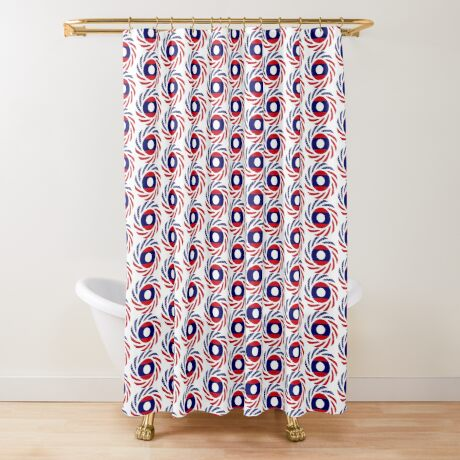 Lao American Multinational Patriot Flag Series Shower Curtain