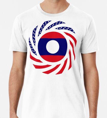 Lao American Multinational Patriot Flag Series Premium T-Shirt