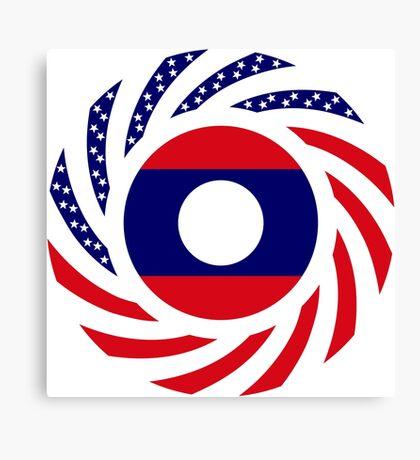 Lao American Multinational Patriot Flag Series Canvas Print