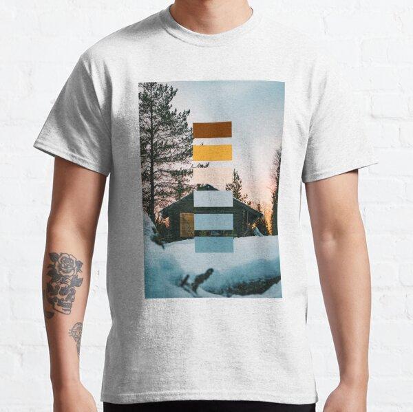 Hut in winter landscape (color palette) Classic T-Shirt