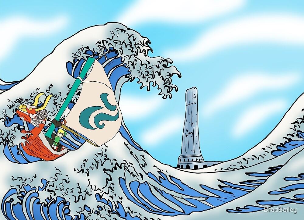 Zelda: WindWaker - Great Wave by BradBailey