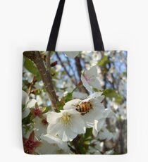 Cherry Blossom Bee Tote Bag