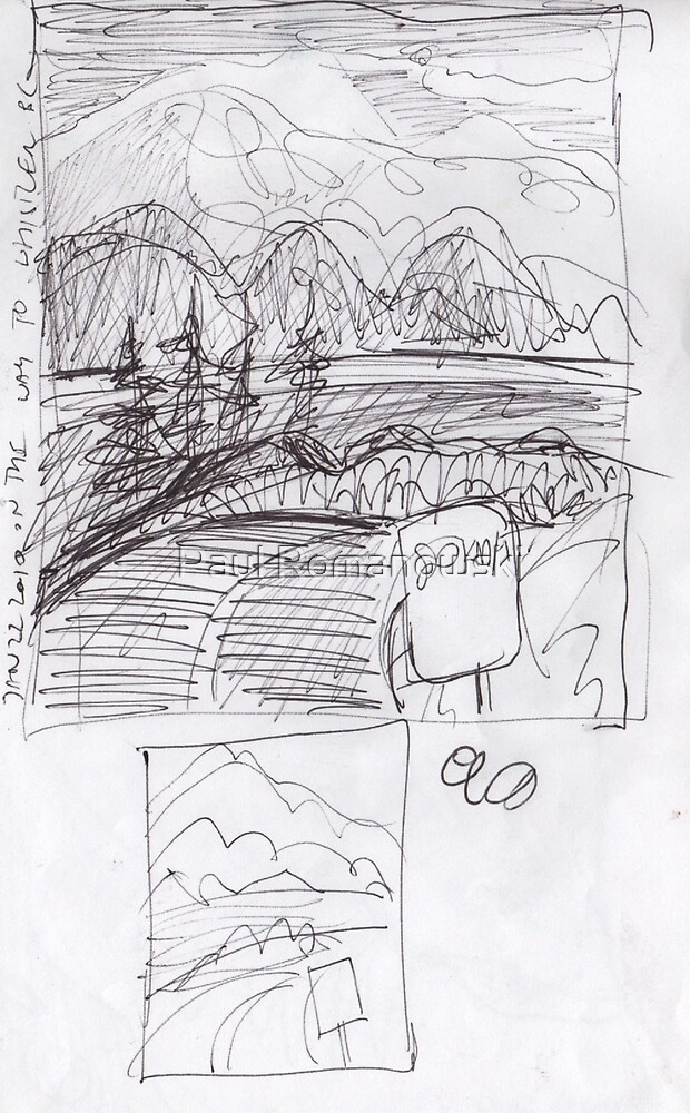 SPEED LIMIT 80 - BUMMER(C2010)(THUMB NAIL SKETCH) by Paul Romanowski