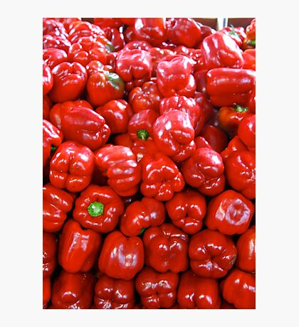 A pile of red peppers Photographic Print