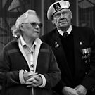 Couple at Anzac Day March by Andrew  Makowiecki