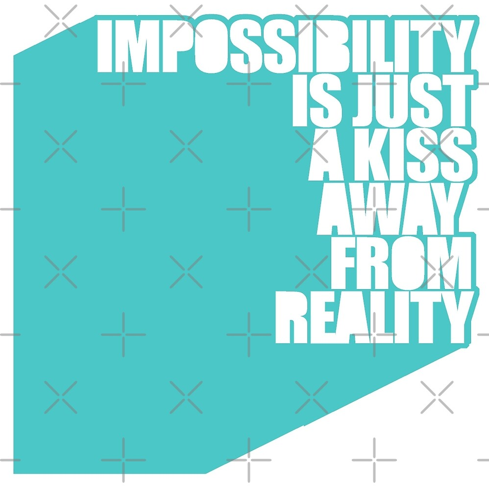impossibility is just a kiss away from reality - blue by athelstan