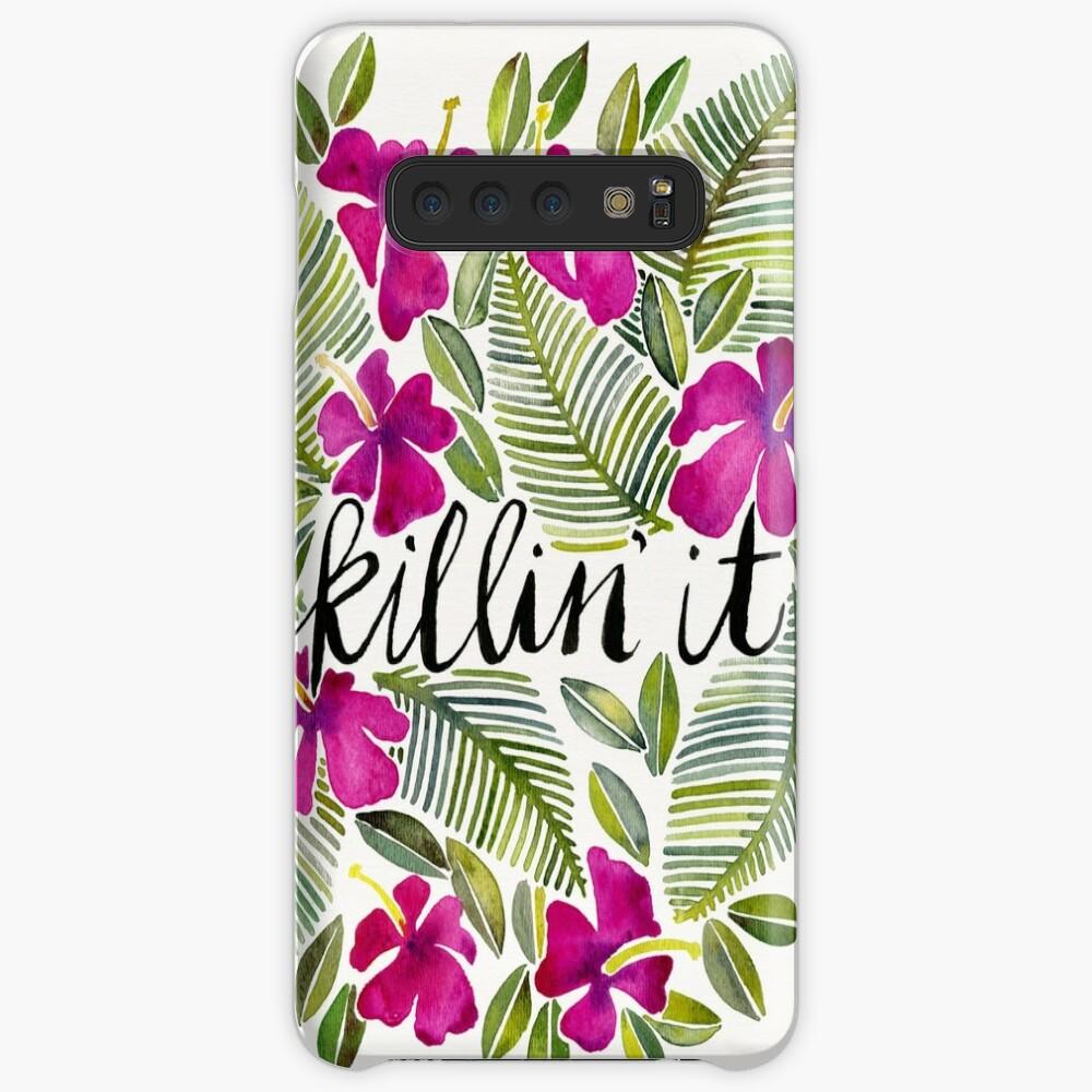 Killin 'es - tropisches Rosa Hüllen & Klebefolien für Samsung Galaxy
